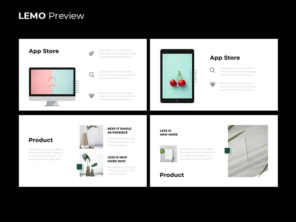 LEMO Minimal Powerpoint Template, Slide 11, 08785, Business — PoweredTemplate.com