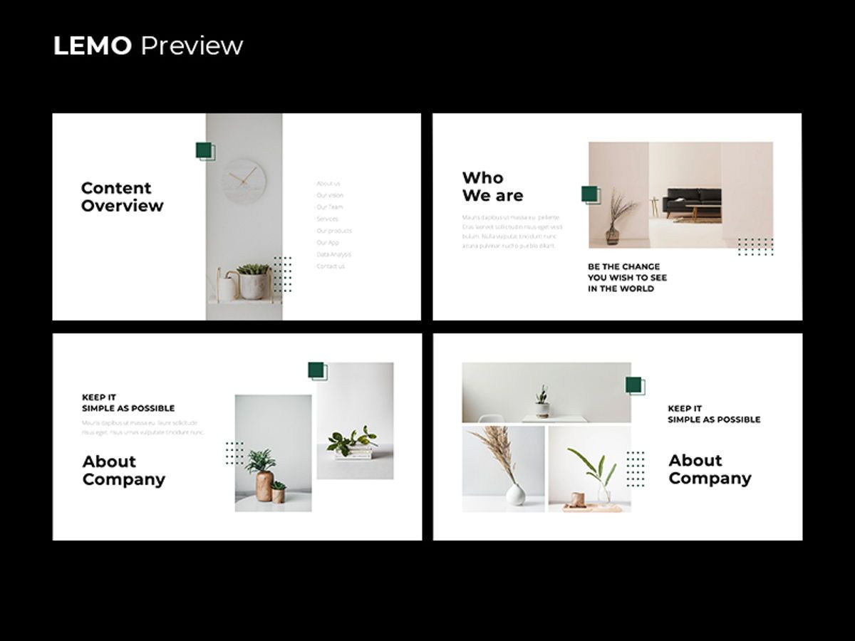 LEMO Minimal Powerpoint Template, Slide 3, 08785, Business — PoweredTemplate.com