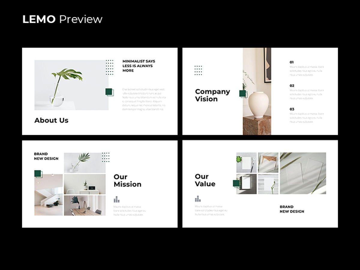 LEMO Minimal Powerpoint Template, Slide 4, 08785, Business — PoweredTemplate.com