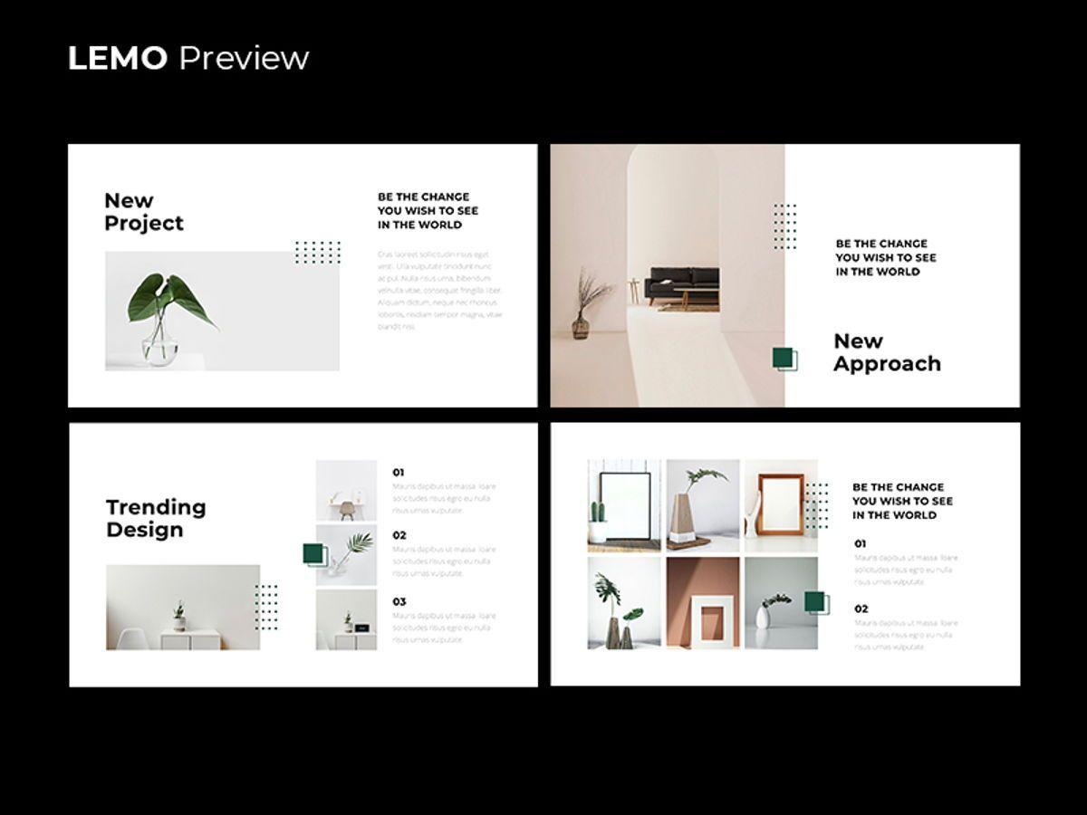LEMO Minimal Powerpoint Template, Slide 9, 08785, Business — PoweredTemplate.com