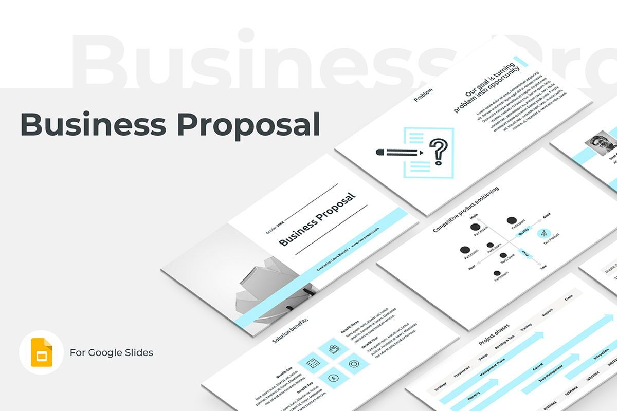Business Proposal Google Slides Presentation Template, 08787, Business — PoweredTemplate.com