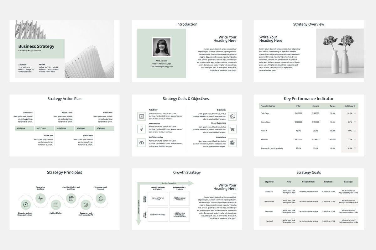 Business Strategy Google Slides Presentation Template, Slide 2, 08790, Business Models — PoweredTemplate.com