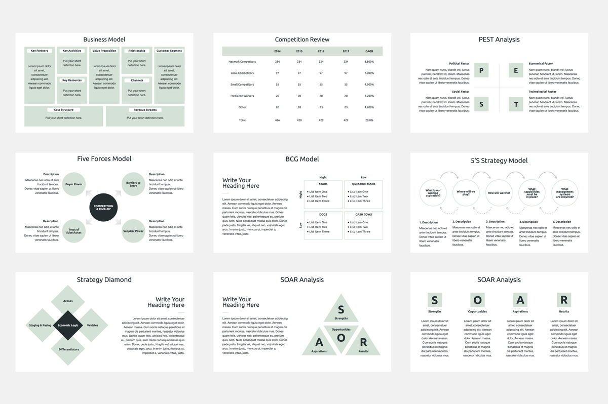 Business Strategy Google Slides Presentation Template, Slide 3, 08790, Business Models — PoweredTemplate.com