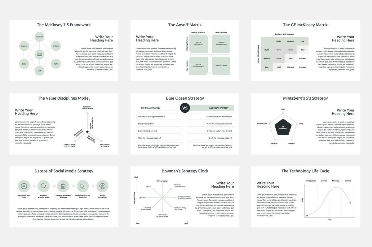 Business Strategy Google Slides Presentation Template, Slide 5, 08790, Business Models — PoweredTemplate.com
