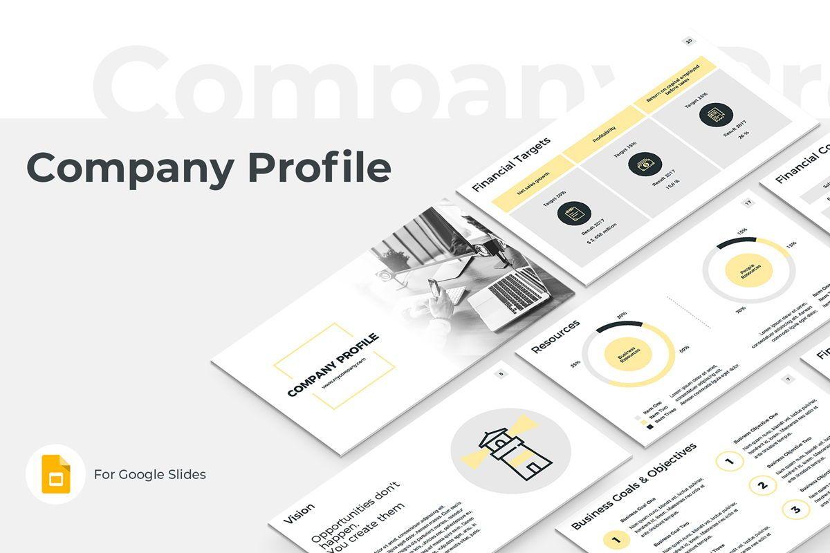 Company Profile Google Slides Presentation Template, 08791, Business — PoweredTemplate.com