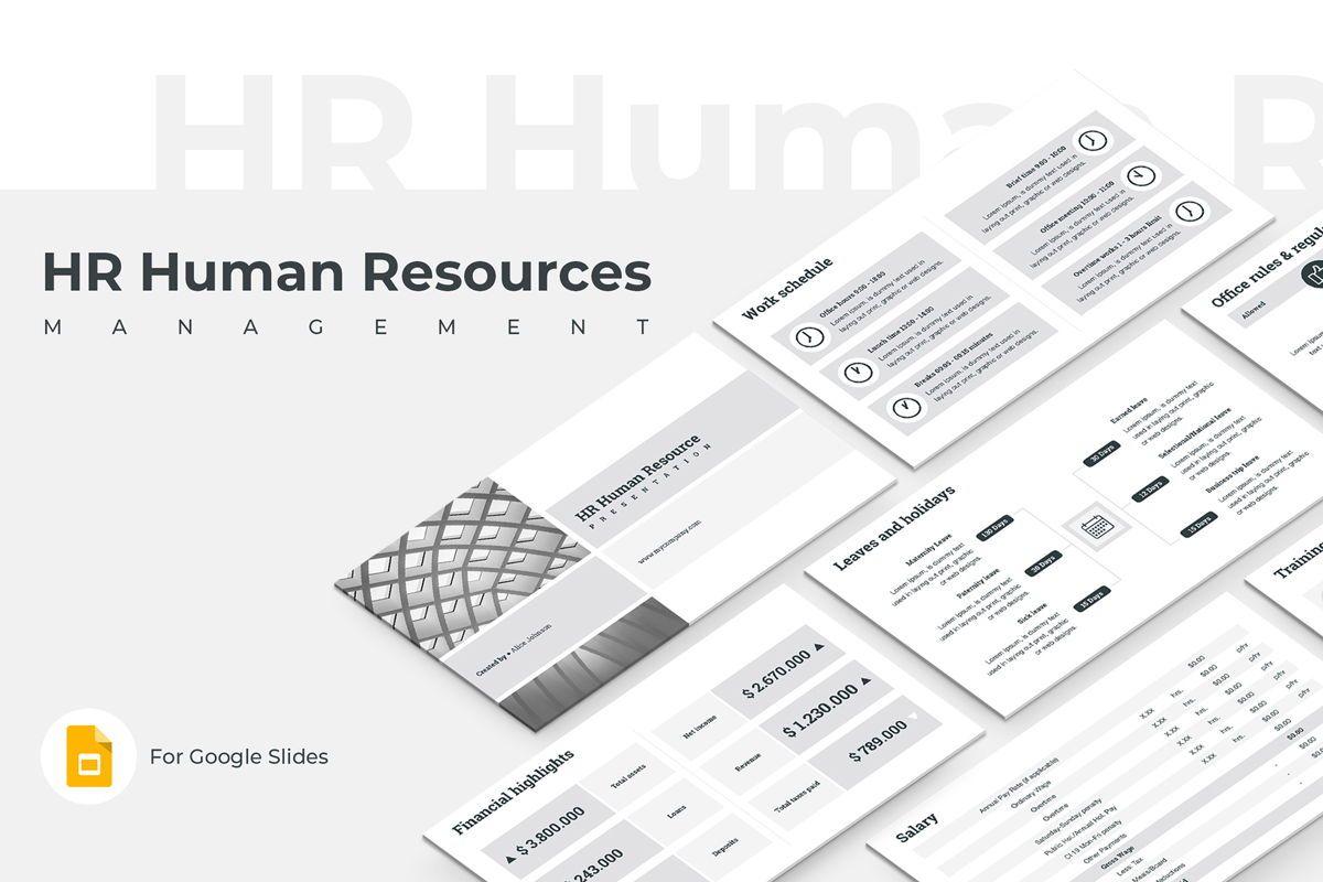 HR Human Resources Google Slides Presentation Template, 08792, Business — PoweredTemplate.com