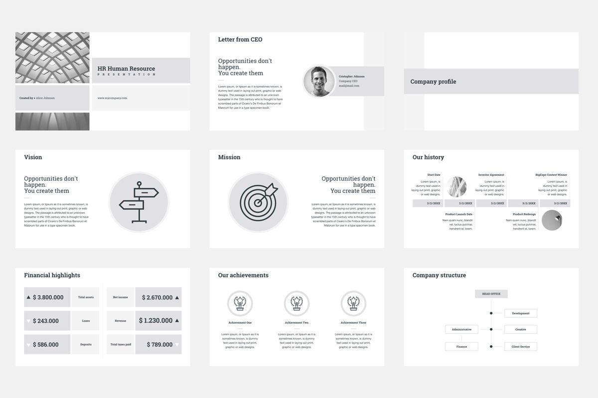 HR Human Resources Google Slides Presentation Template, Slide 2, 08792, Business — PoweredTemplate.com
