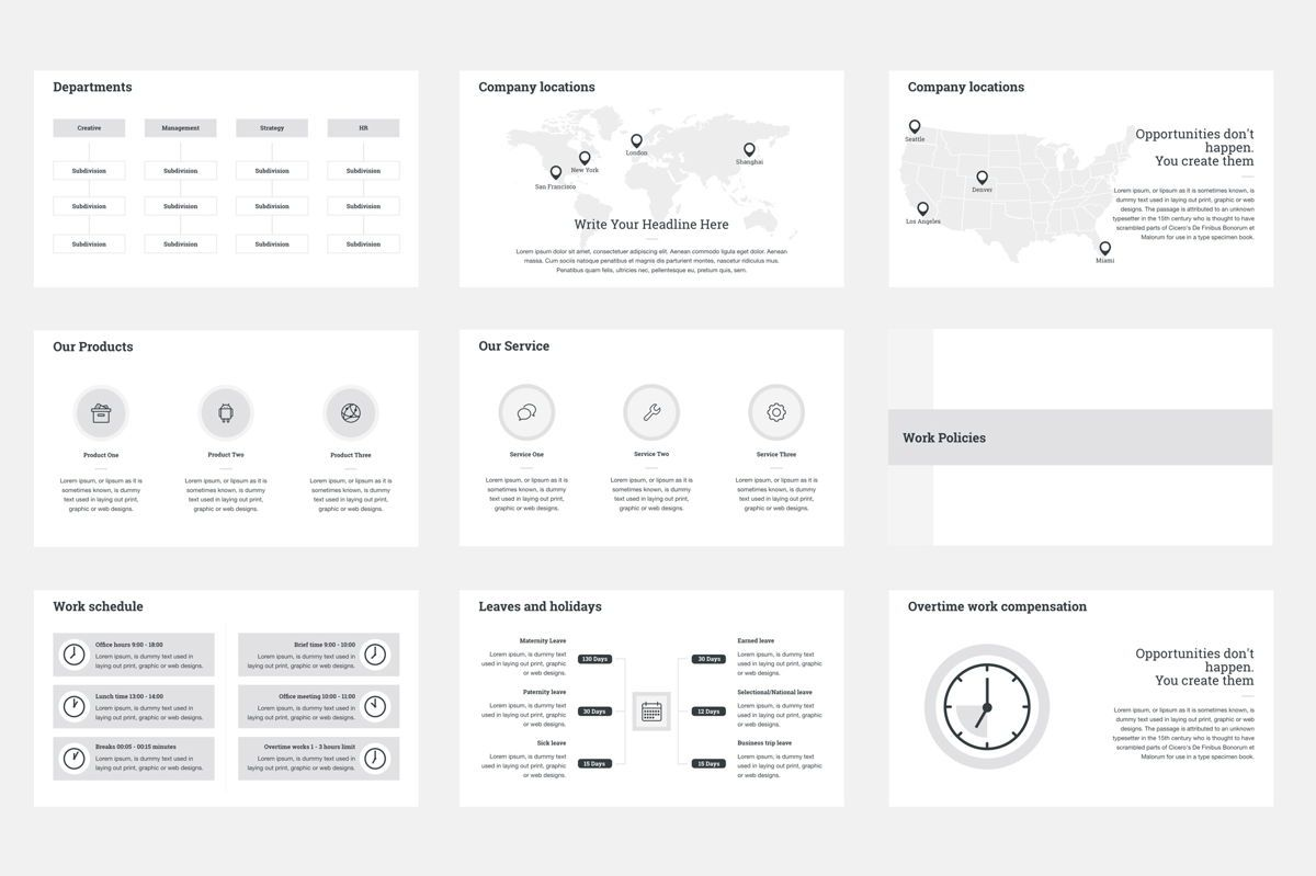 HR Human Resources Google Slides Presentation Template, Slide 3, 08792, Business — PoweredTemplate.com