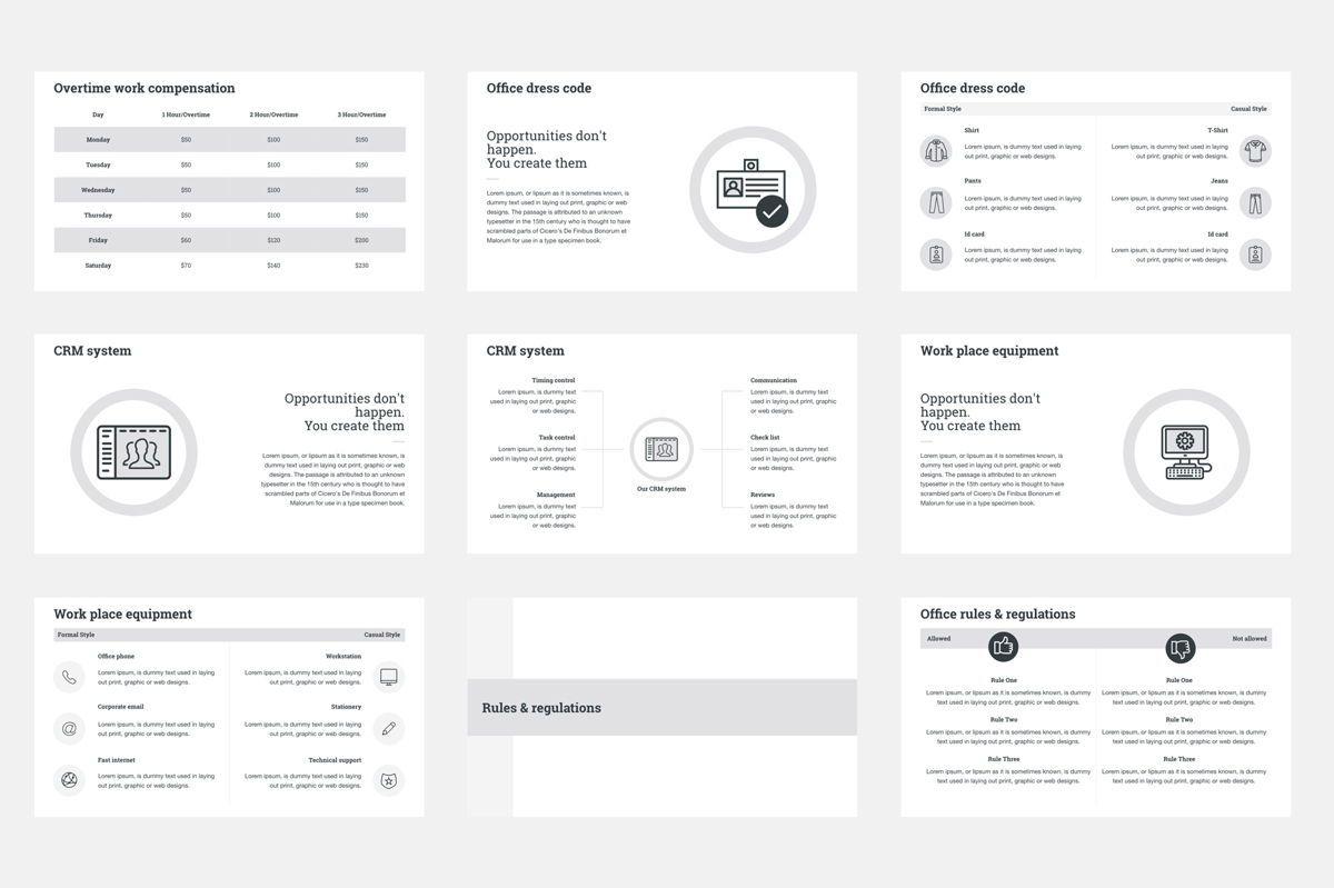 HR Human Resources Google Slides Presentation Template, Slide 4, 08792, Business — PoweredTemplate.com