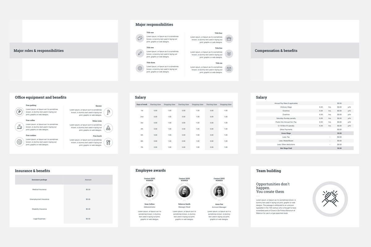 HR Human Resources Google Slides Presentation Template, Slide 5, 08792, Business — PoweredTemplate.com