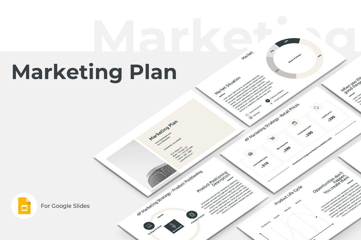 Marketing Plan Google Slides Presentation Template, 08793, Business — PoweredTemplate.com