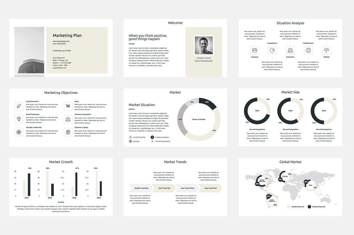 Marketing Plan Google Slides Presentation Template, Slide 2, 08793, Business — PoweredTemplate.com