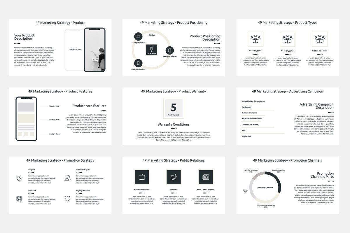 Marketing Plan Google Slides Presentation Template, Slide 4, 08793, Business — PoweredTemplate.com