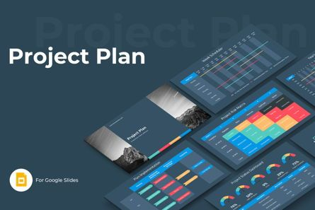 Business: Project Plan Google Slides Presentation Template #08795
