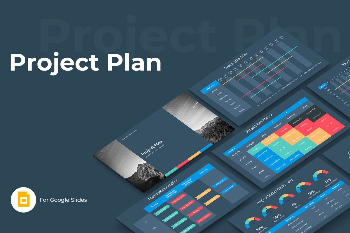 Project Plan Google Slides Presentation Template, 08795, Business — PoweredTemplate.com
