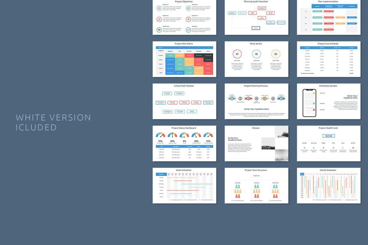 Project Plan Google Slides Presentation Template, Slide 9, 08795, Business — PoweredTemplate.com