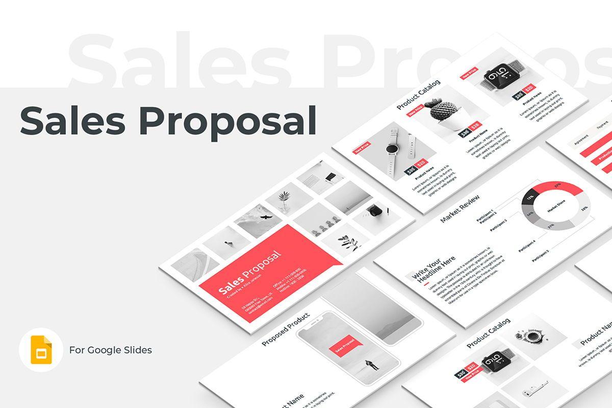 Sales Proposal Google Slides Template, 08796, Business — PoweredTemplate.com