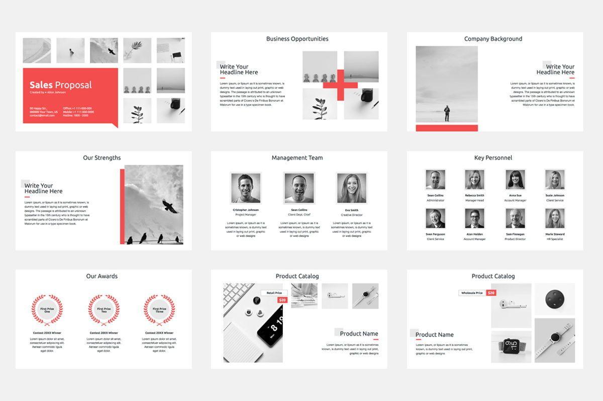 Sales Proposal Google Slides Template, Slide 2, 08796, Business — PoweredTemplate.com