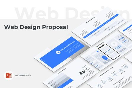 Business: Web Design Proposal PowerPoint Presentation Template #08797
