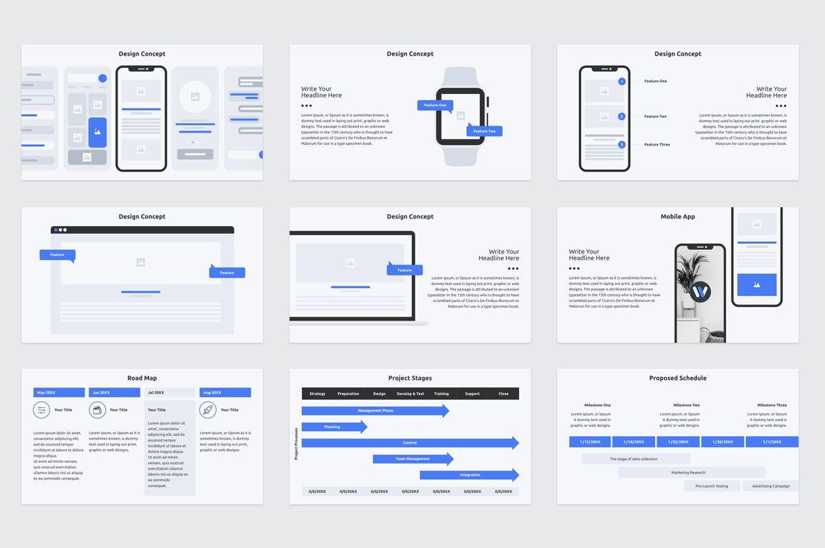 Web Design Proposal Keynote Presentation Template, Slide 4, 08798, Business — PoweredTemplate.com