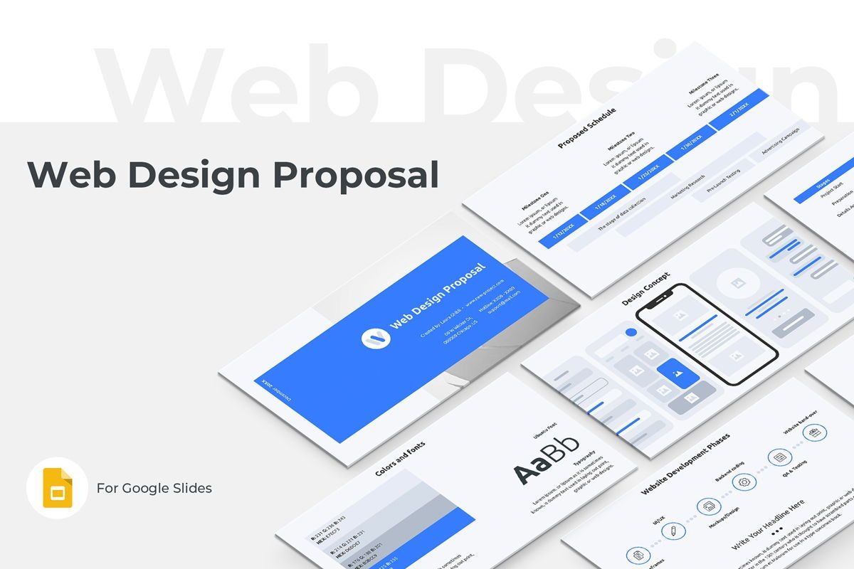 Web Design Proposal Google Slides Presentation Template, 08799, Business — PoweredTemplate.com