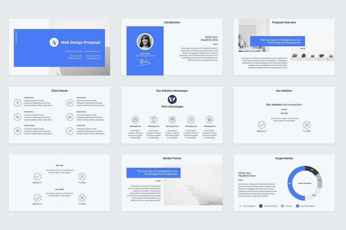 Web Design Proposal Google Slides Presentation Template, Slide 2, 08799, Business — PoweredTemplate.com