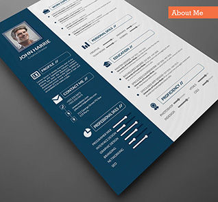 Careers/Industry: Resume Design Template #09074