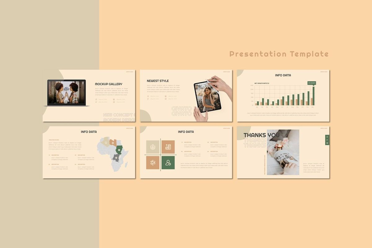 Givato - Powerpoint Template, Slide 4, 08800, Art & Entertainment — PoweredTemplate.com