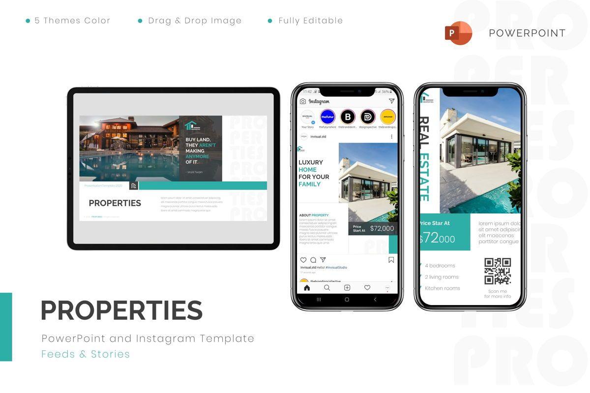 Properties - Powerpoint Template, 08801, Real Estate — PoweredTemplate.com