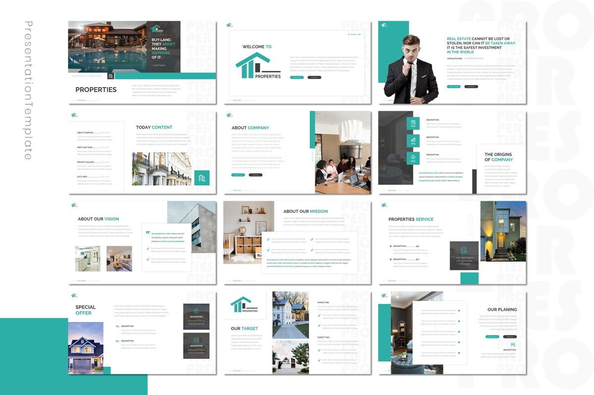 Properties - Powerpoint Template, Slide 2, 08801, Real Estate — PoweredTemplate.com