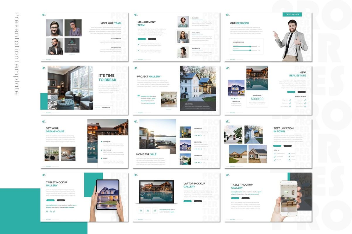 Properties - Powerpoint Template, Slide 3, 08801, Real Estate — PoweredTemplate.com