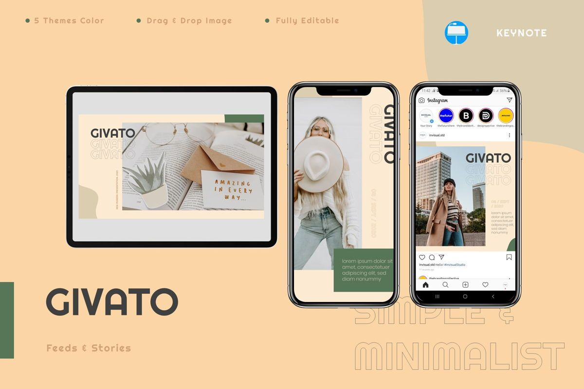 Givato - Keynote Template, 08802, Art & Entertainment — PoweredTemplate.com