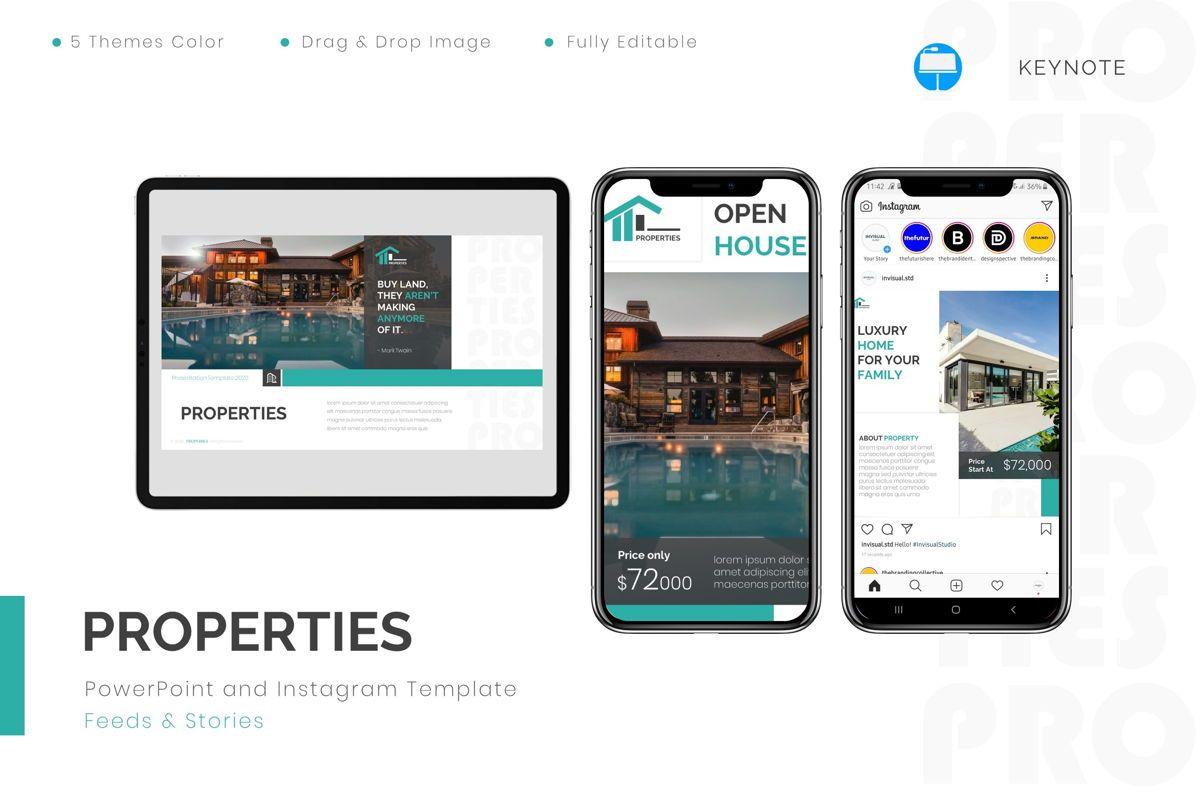 Properties - Keynote Template, 08803, Real Estate — PoweredTemplate.com