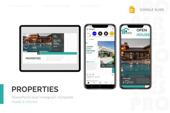 Real Estate: Properties - Google Slides Template #08805