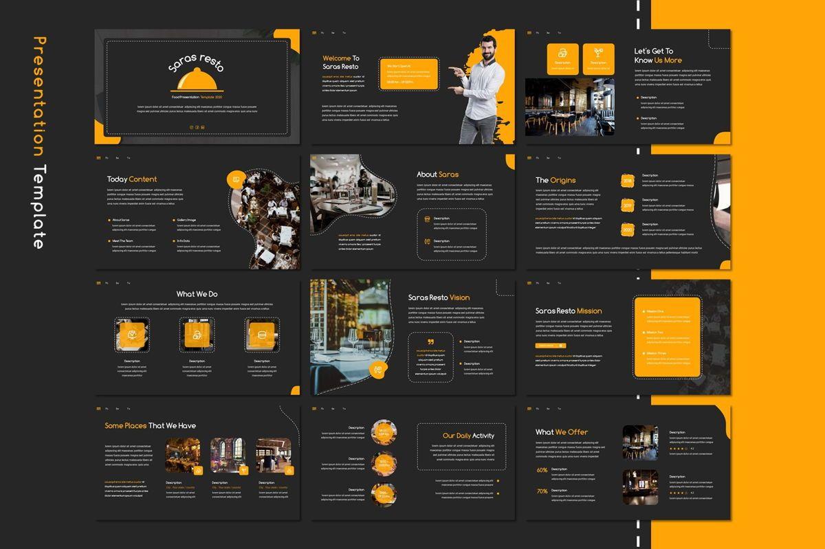 Saras - Google Slides Template, Slide 2, 08811, Food & Beverage — PoweredTemplate.com