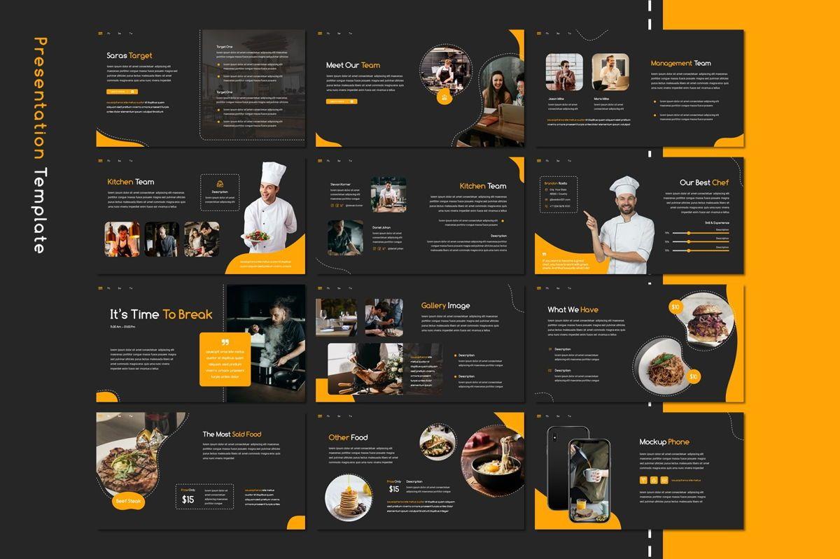 Saras - Google Slides Template, Slide 3, 08811, Food & Beverage — PoweredTemplate.com