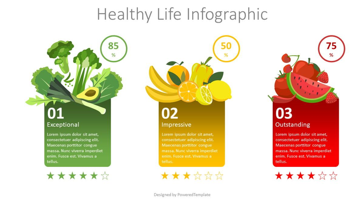 Healthy Eating Infographic, 08814, Food & Beverage — PoweredTemplate.com