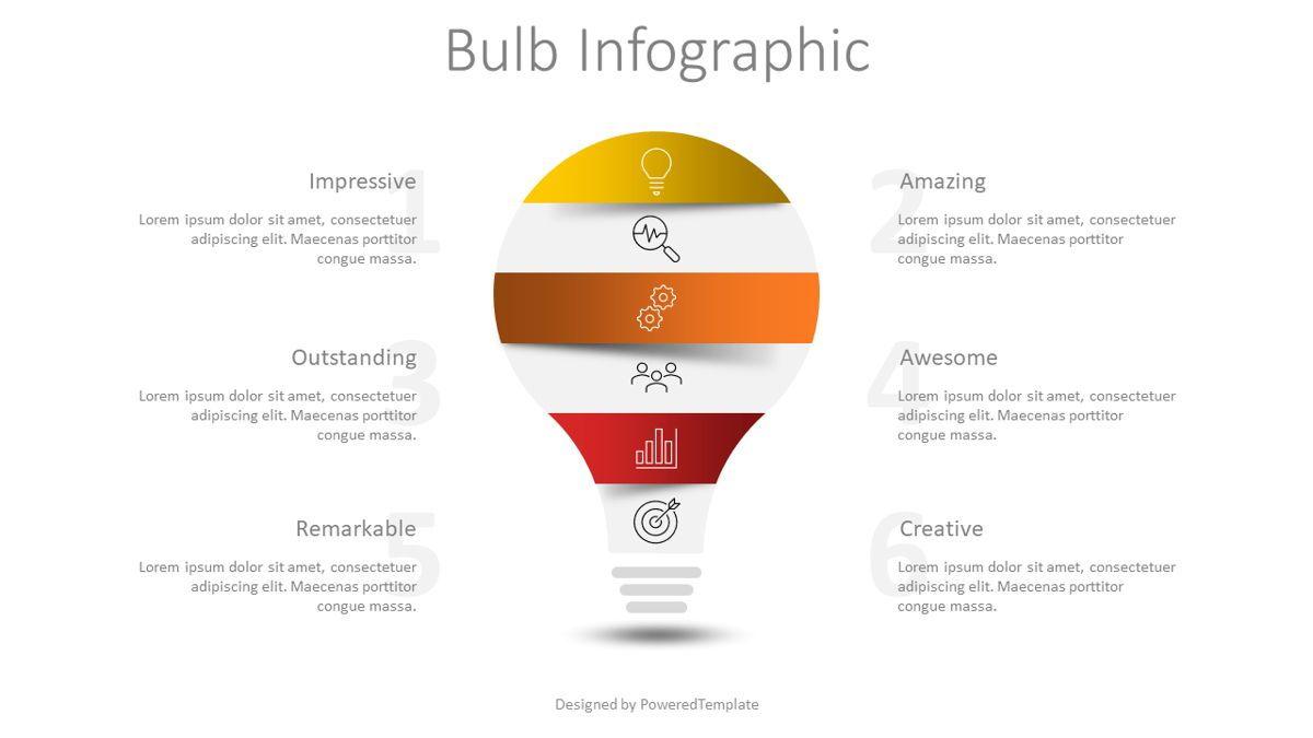 Light Bulb Infographic, 08815, Infographics — PoweredTemplate.com