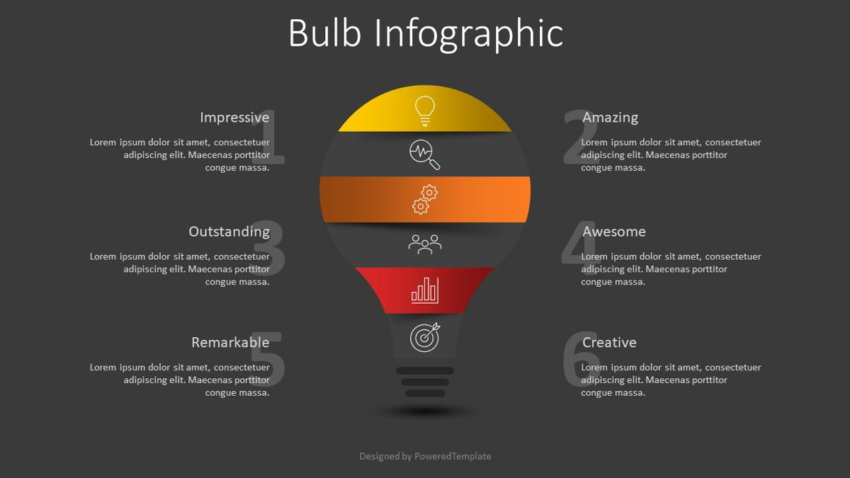 Light Bulb Infographic, Slide 2, 08815, Infographics — PoweredTemplate.com