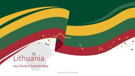 Flags/International: Festive Lithuanian Flag #08817