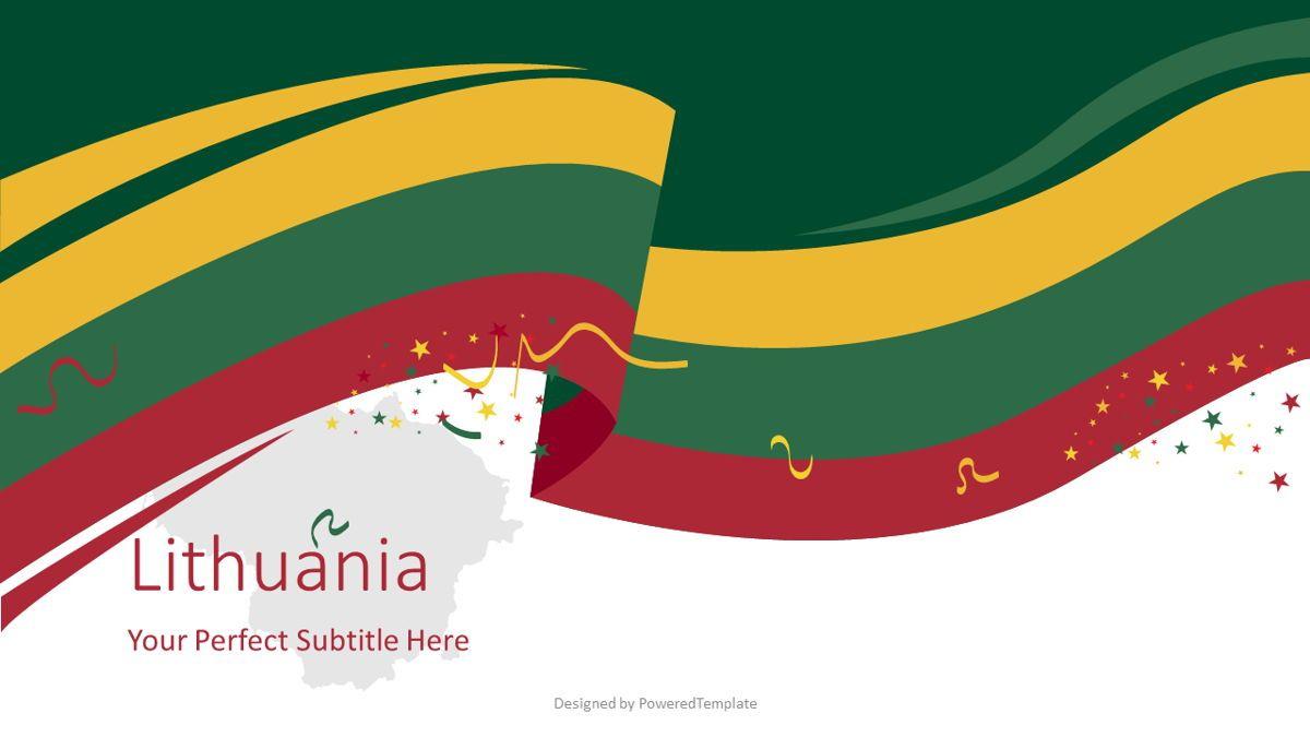 Festive Lithuanian Flag, 08817, Flags/International — PoweredTemplate.com