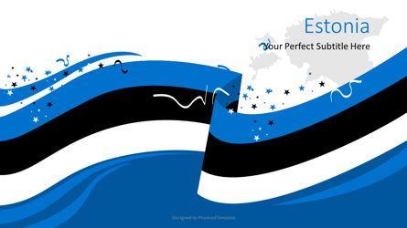 Flags/International: Festive Estonian Flag #08818