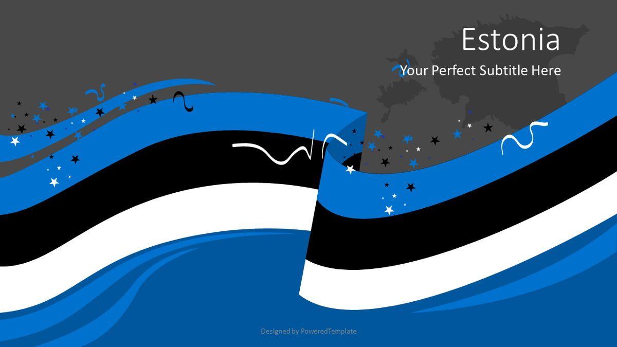 Festive Estonian Flag, Slide 2, 08818, Flags/International — PoweredTemplate.com
