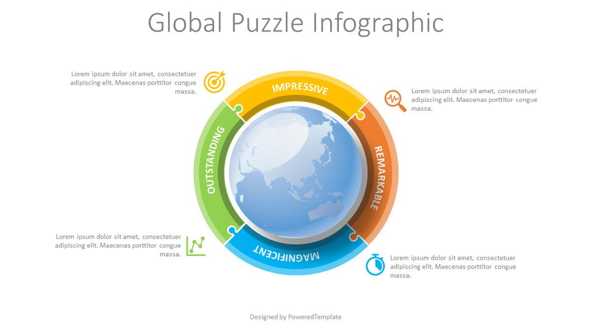Global Puzzle Infographic, 08819, Global — PoweredTemplate.com