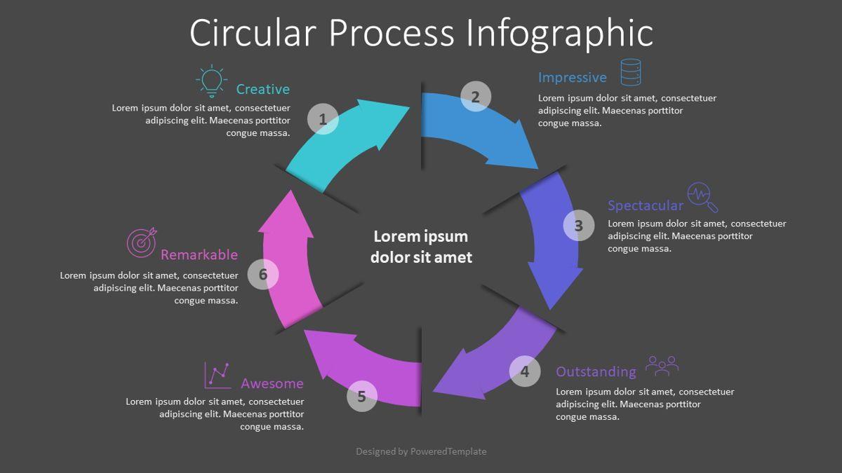 Circular Process Infographic, 08820, Process Diagrams — PoweredTemplate.com