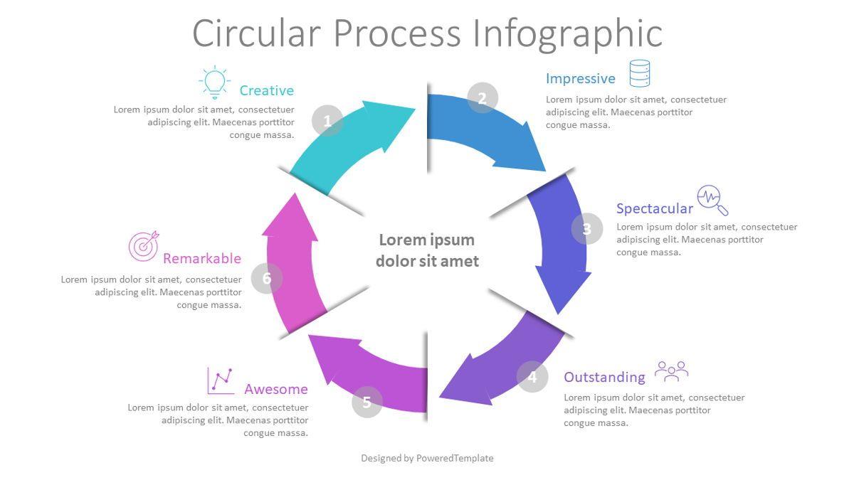 Circular Process Infographic, Slide 2, 08820, Process Diagrams — PoweredTemplate.com