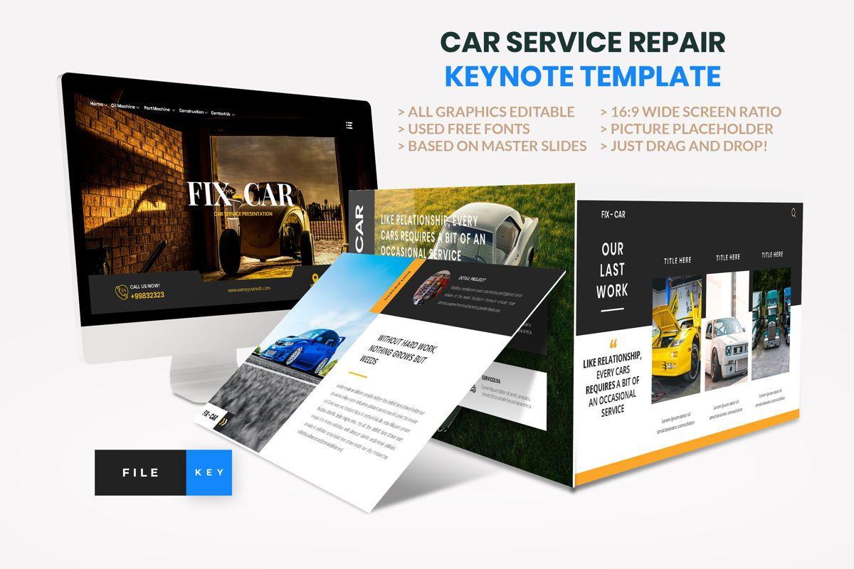 Car Repair Service Keynote Template, 08823, Business — PoweredTemplate.com