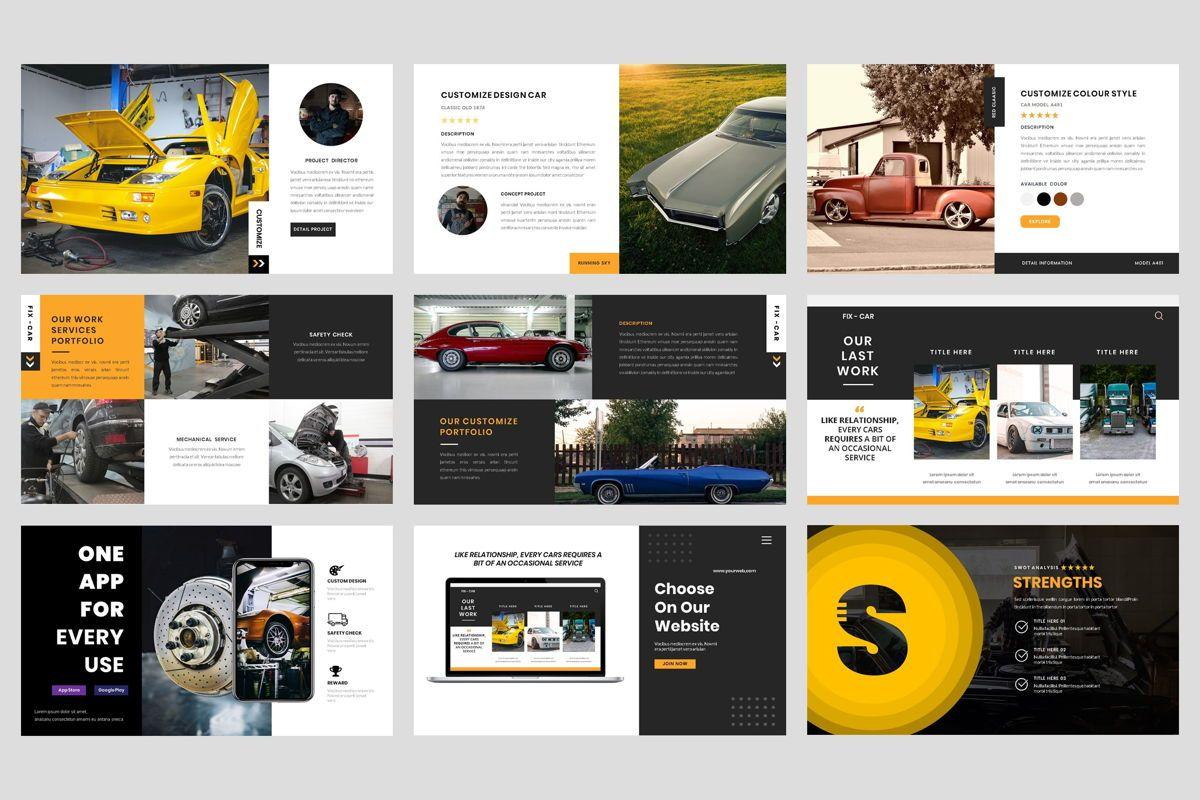 Car Repair Service Keynote Template, Slide 4, 08823, Business — PoweredTemplate.com