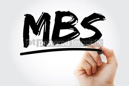 Business: MBS - Mortgage-Backed Security acronym with marker business con #18222