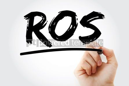 Business: ROS - Return On Sales acronym with marker business concept back #18249